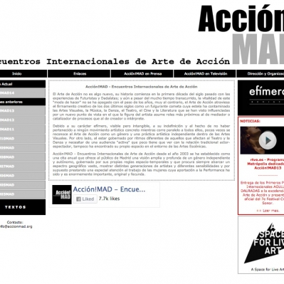 accionmad legasy site screenshot