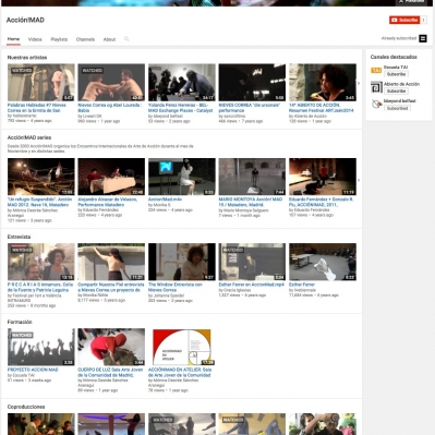 accionmad youtube channel screenshot